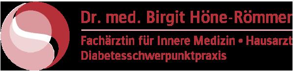 Diabetesschwerpunktpraxis Dr. med. Birgit Höne-Römmer Logo